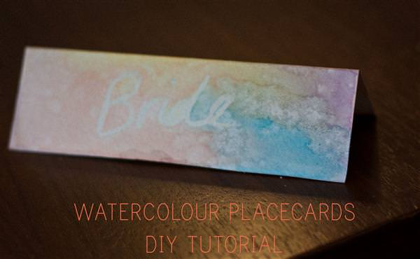 Watercolour Place Name Cards DIY Tutorial
