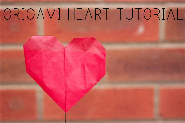 DIY Origami Heart Tutorial UK Wedding Blog Whimsical Wonderland Weddings