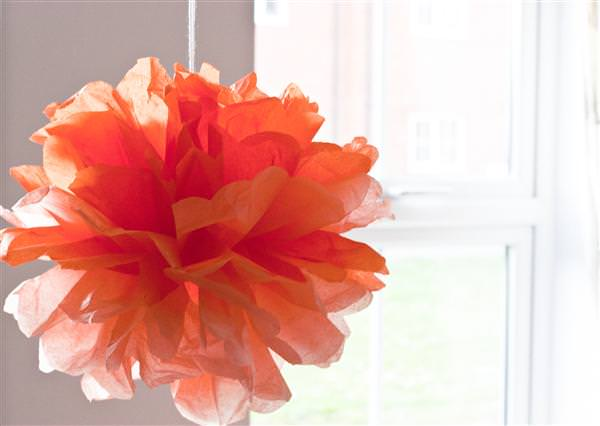 DIY Ombre Tissue Paper Pom Poms Tutorial ~ UK Wedding Blog ~ Whimsical Wonderland Weddings