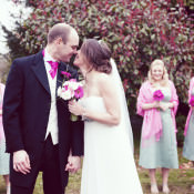 A Relaxed + Pretty, Pink + Green Outdoor Wedding