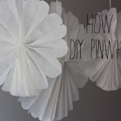 DIY Tissue Paper Hanging Pinwheels Tutorial