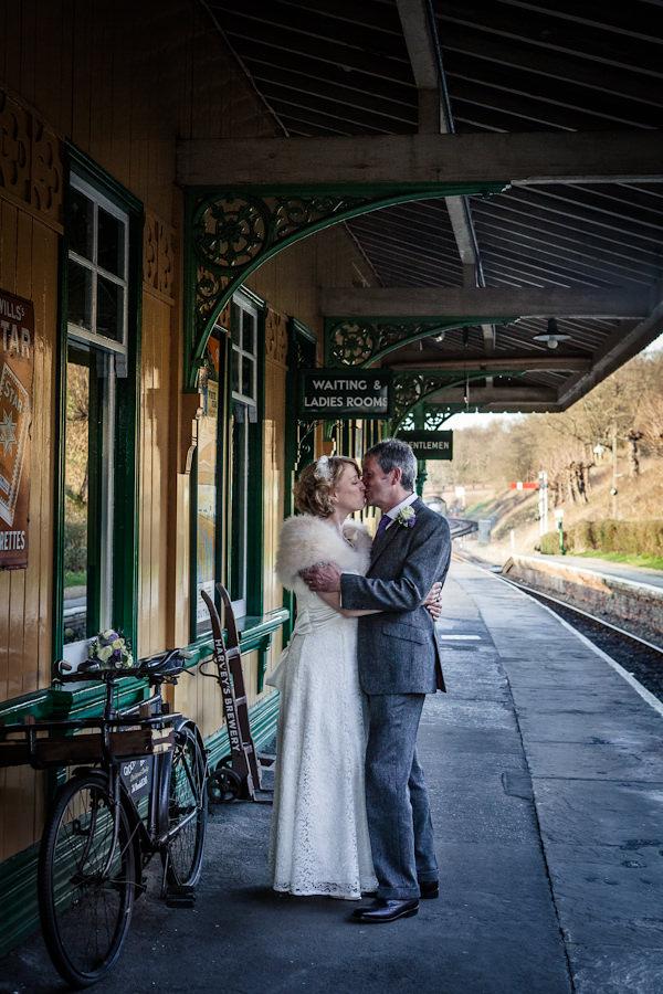 steam railway wedding