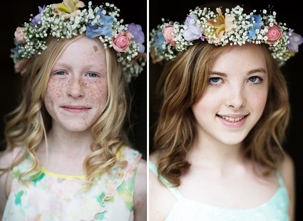 flower girls bridesmaids floral headdress