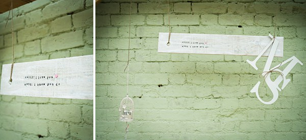 rustic wedding signs white