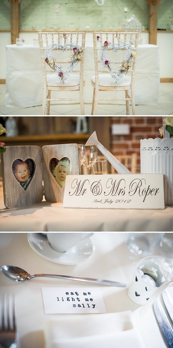 rustic heart chair decorations