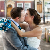 An Informal + Quirky Teal Wedding