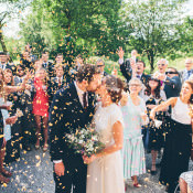 A Relaxed + Stylish Vintage Wedding
