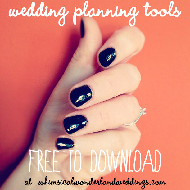 wedding planning tools free to download whimsical wonderland weddings