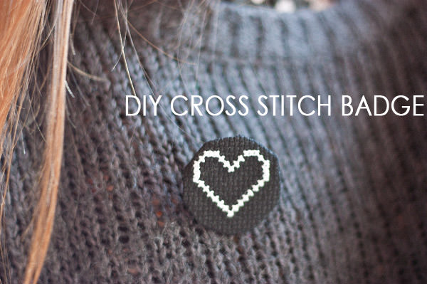 DIY Cross Stitch Badge Tutorial