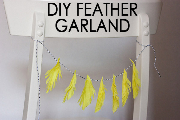 DIY Feather Garland Chair Back Tutorial