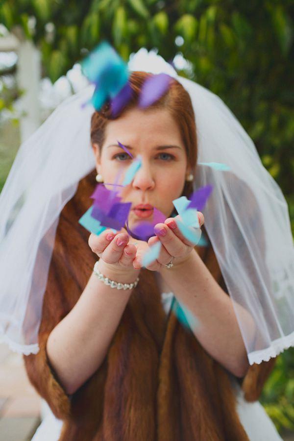 bride confetti