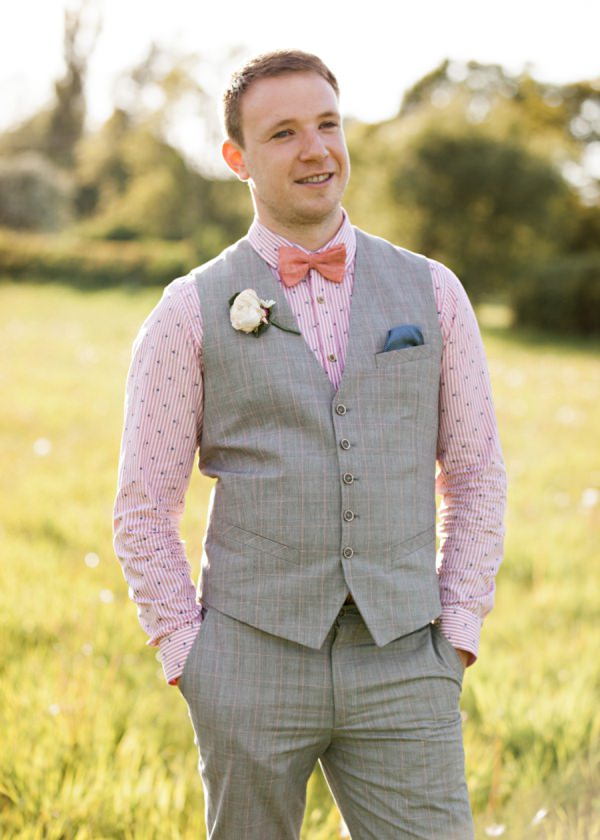 quirky groom bow tie waistcoat ted baker