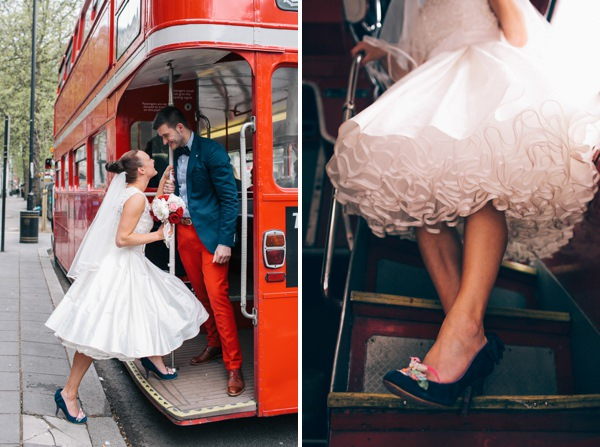 routemaster red bus wedding http://www.weheartpictures.com/