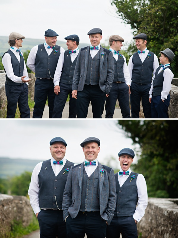 tweed bow tie groom suits http://www.photographer-north-wales.com/