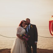 An Eclectic Multicoloured Seaside Wedding