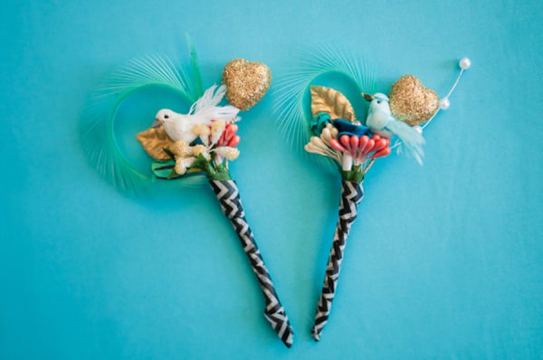 quirky buttonhole boutonieere http://www.georgimabee.com/