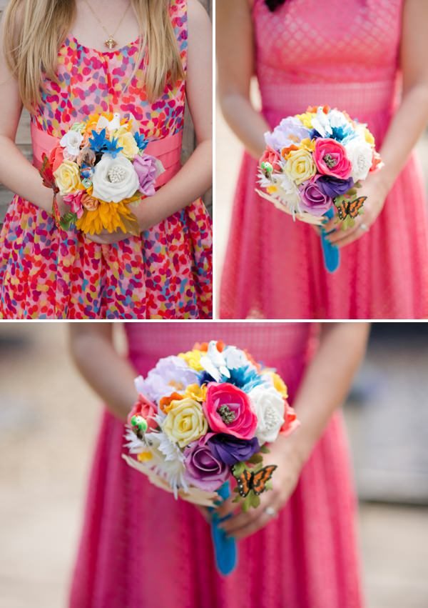 quirky bridesmaid bouquets wedding http://www.georgimabee.com/
