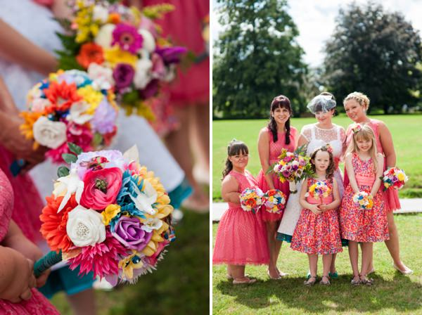 colourful bridesmaids http://www.georgimabee.com/