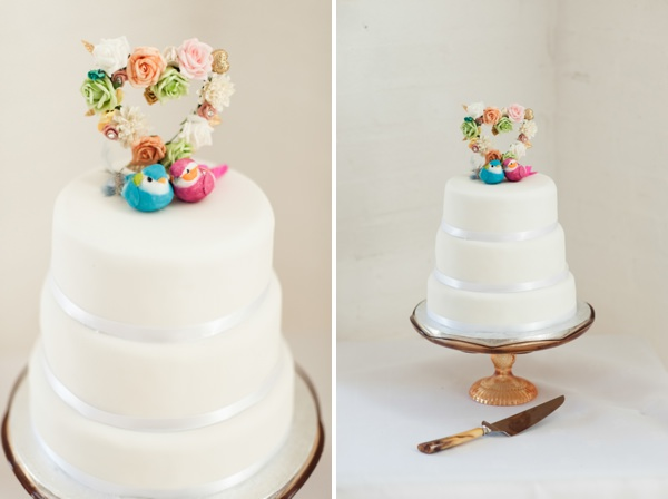 quirky vintage wedding cake http://www.georgimabee.com/