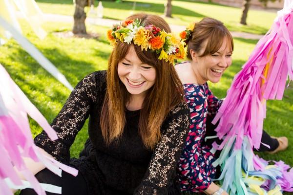 Erica & Binky- Tie The Knot organisers with Bubblegum Balloons & Basement Florist floral headbands http://www.binkynixon.com/