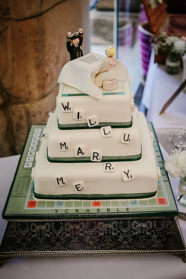 scrabble wedding cake pride and prejudice wedding chatsworth house http://www.tierneyphotography.co.uk/