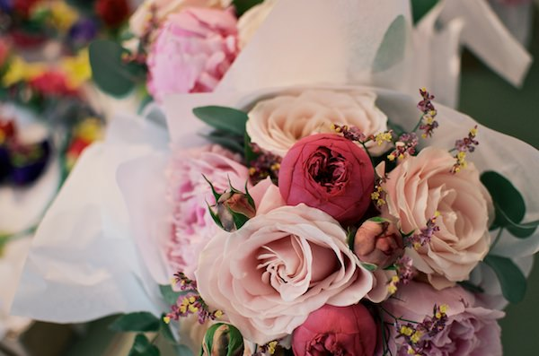 pink bouquet Colourful Industrial London Wedding http://www.matthewlongphotography.co.uk/