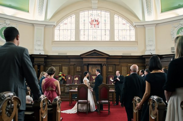 Islington Town Hall Colourful Industrial London Wedding http://www.matthewlongphotography.co.uk/