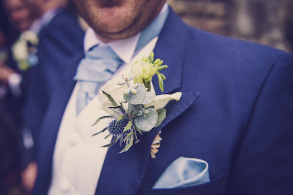 thistle buttonhole quirky beach wedding http://www.marcsmithphotography.com/