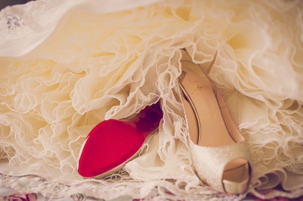 Christian Louboutin glitter Shoes quirky beach wedding http://www.marcsmithphotography.com/