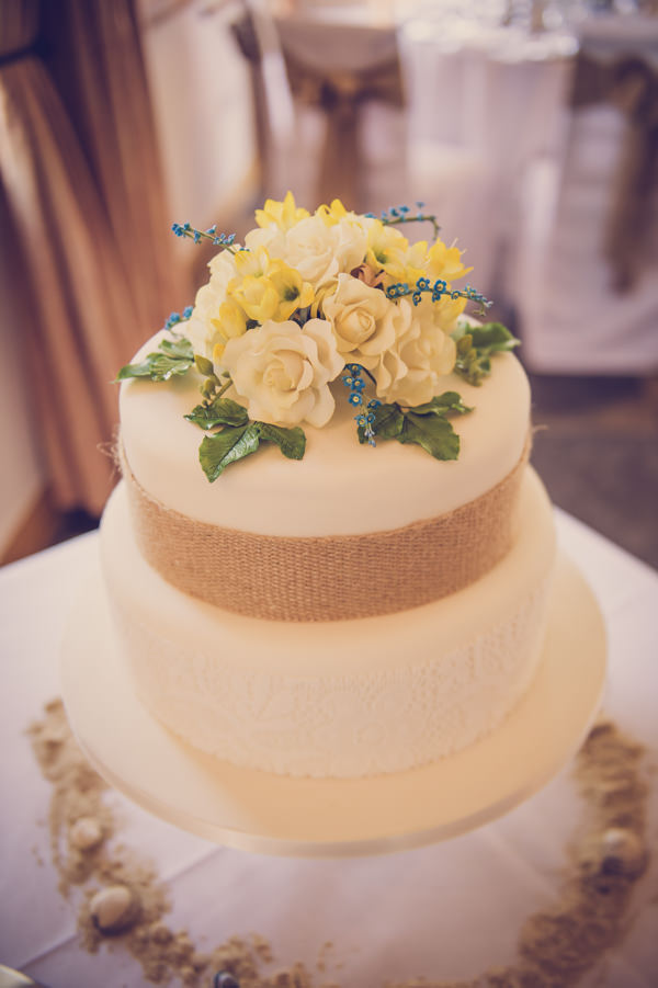 white flowers cake quirky beach wedding http://www.marcsmithphotography.com/