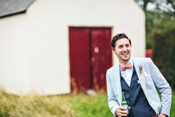 bow tie paul smith jacket groom Rustic Patterns & Pastels Wedding http://campbellphotography.co.uk/