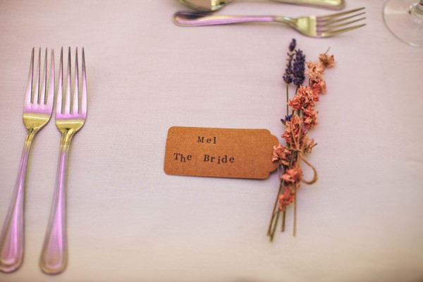 lavender luggage tag place names Rustic Patterns & Pastels Wedding http://campbellphotography.co.uk/