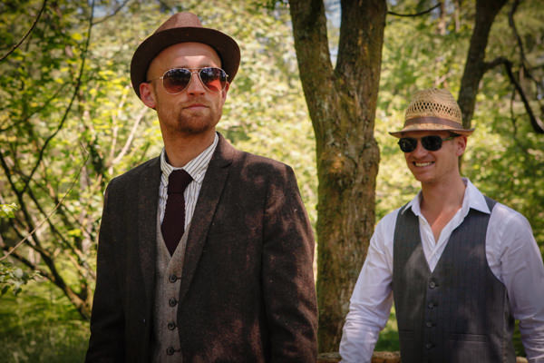 Tweed Groom Vintage Country Fair Woodland Wedding http://www.frecklephotography.co.uk/