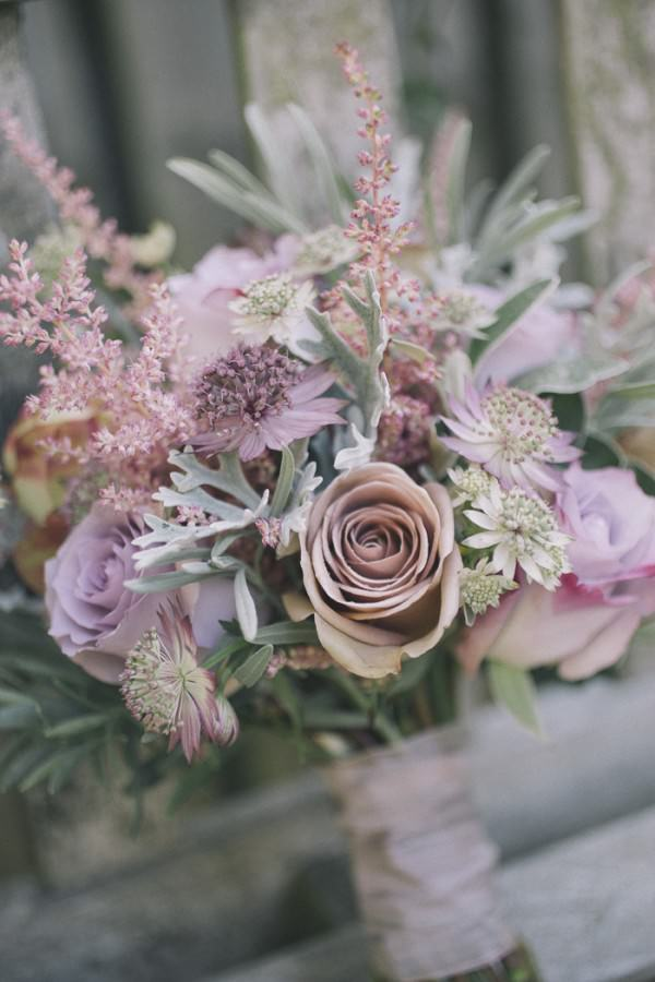 Chic Dusky Pink Flower Filled Wedding At Kirknewton