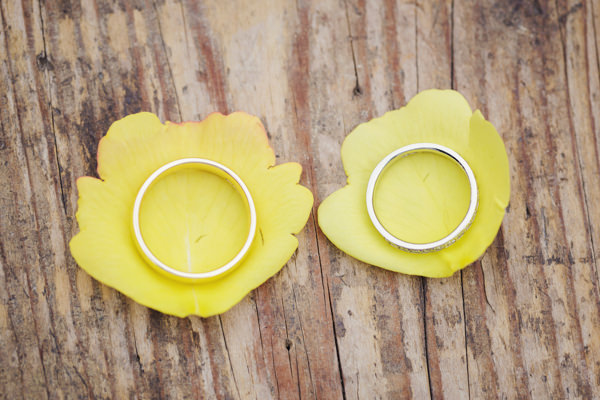 Wedding Rings Bright Tea Party Yellow Wedding http://www.gemmawilliamsphotography.co.uk/