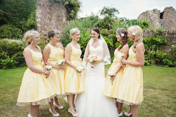 Yellow 1950s Bridesmaid Dresses Bright Tea Party Yellow Wedding http://www.gemmawilliamsphotography.co.uk/