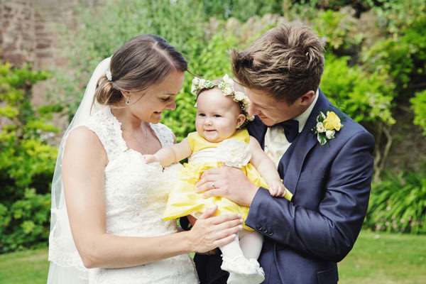 Baby Flower Girl Bright Tea Party Yellow Wedding http://www.gemmawilliamsphotography.co.uk/