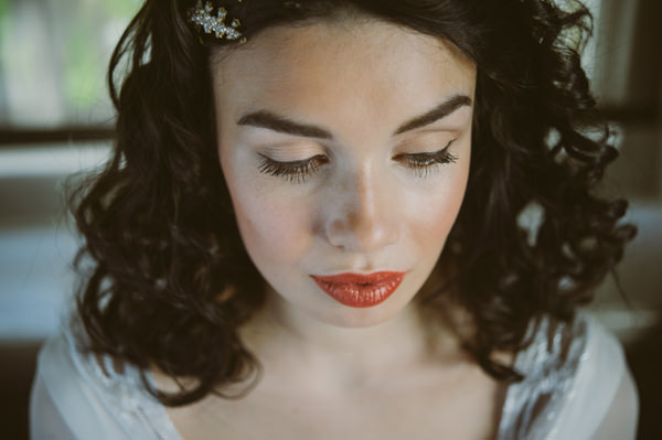 Fresh Berry Orange Lips Make Up Bride Woodland Boho Wedding Ideas http://www.karenflowerphotography.com/