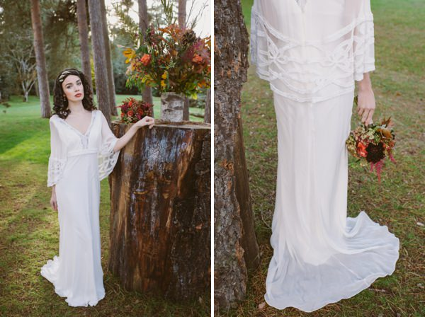 Eliza Jane Howell Wedding Dress Woodland Boho Wedding Ideas http://www.karenflowerphotography.com/