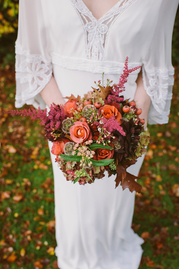 Autumn Wedding Bouquet Orange Woodland Boho Wedding Ideas http://www.karenflowerphotography.com/