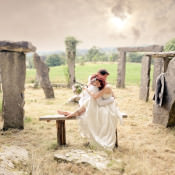 Natural & Bohemian Stone Circle Vegan Yurt Wedding