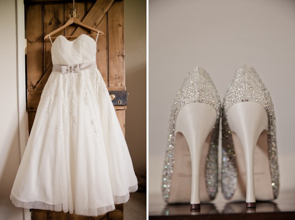 Sparkly Shoes Home Made Barn Kent Wedding http://www.kerryannduffy.com/