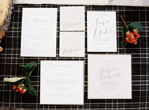 Elegant Stationery Rustic Christmas Wedding Ideas http://www.victoriaphippsphotography.co.uk/