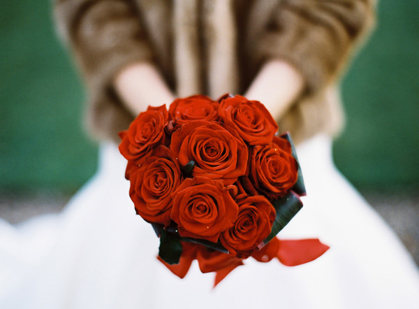 Red Rose Bouquet Rustic Christmas Wedding Ideas http://www.victoriaphippsphotography.co.uk/