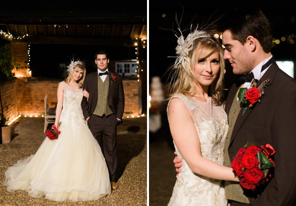 Pronovias Bride Dress Rustic Christmas Wedding Ideas http://www.victoriaphippsphotography.co.uk/