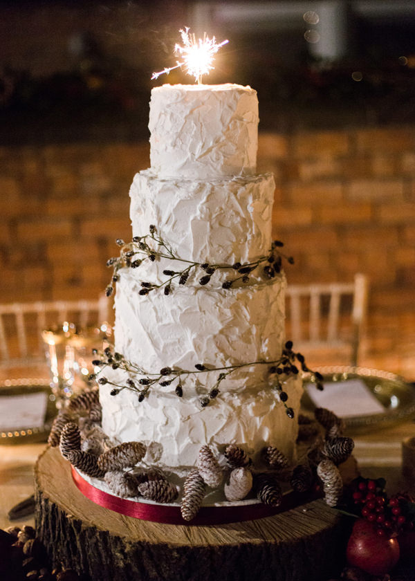 Sparkler Cake Rustic Christmas Wedding Ideas http://www.victoriaphippsphotography.co.uk/