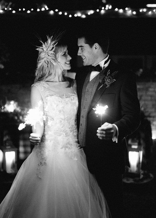 Sparklers Rustic Christmas Wedding Ideas http://www.victoriaphippsphotography.co.uk/