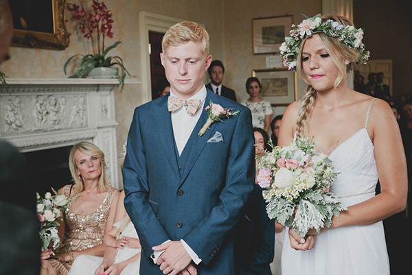 Relaxed Colourful Flower Filled Wedding Next Bow Tie Groomhttp://www.blissfulwedding.co.uk/