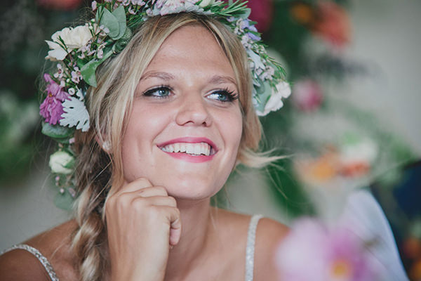 Relaxed Colourful Flower Filled Wedding http://www.blissfulwedding.co.uk/