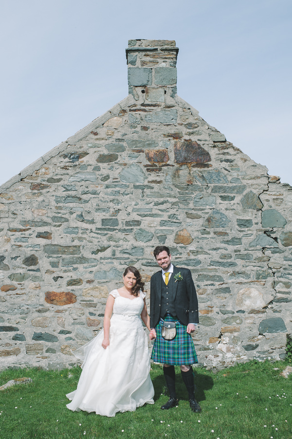Chic & Stylish White & Craft Paper Wedding http://www.lisadevinephotography.co.uk/